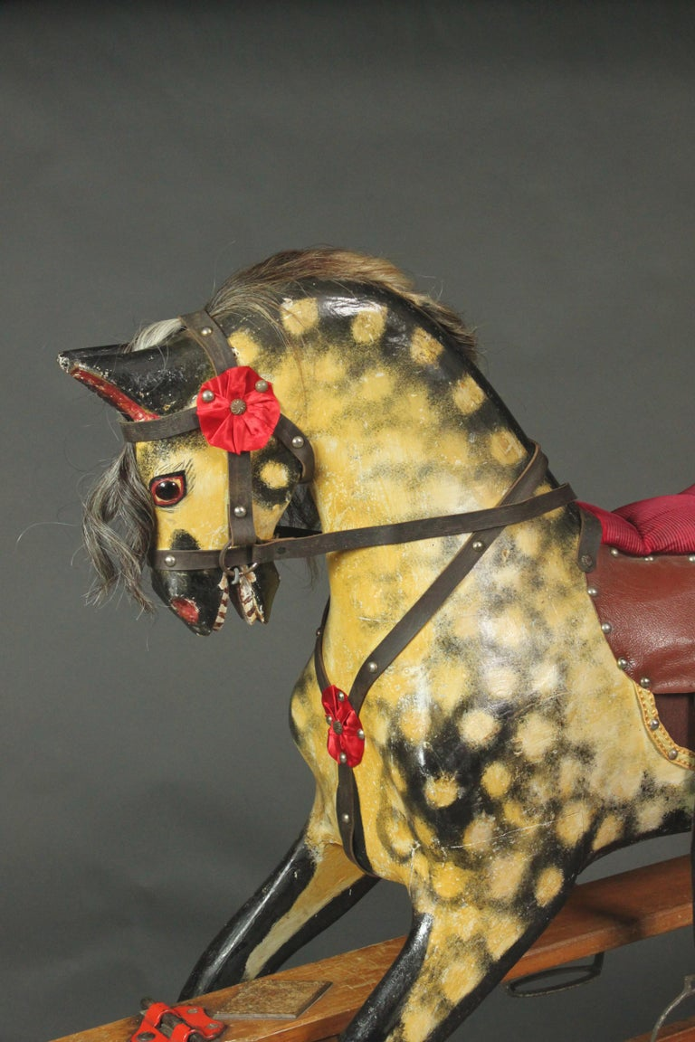 Mid-20th Century Large Rocking Horse by Collinson For Sale