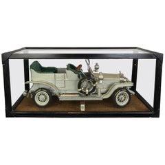 Large Rolls-Royce Silver Ghost Model in Showcase