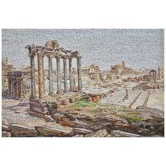 "Large Roman Mosaic Plaque of Foro Romano ""Cavi"""