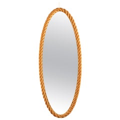 Large Rope Mirror by Audoux and Minet