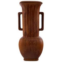 Large Rörstrand/Rorstrand Stoneware Vase by Gunnar Nylund
