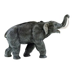 Large Rosenthal Mammoth / Elephant in Hand Painted Porcelain, 1930s