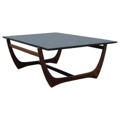 Large Rosewood and Blake Slate Coffee Table
