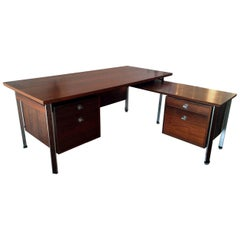 "Large Rosewood 'Diplomat"" Executive Desk by Finn Juhl"
