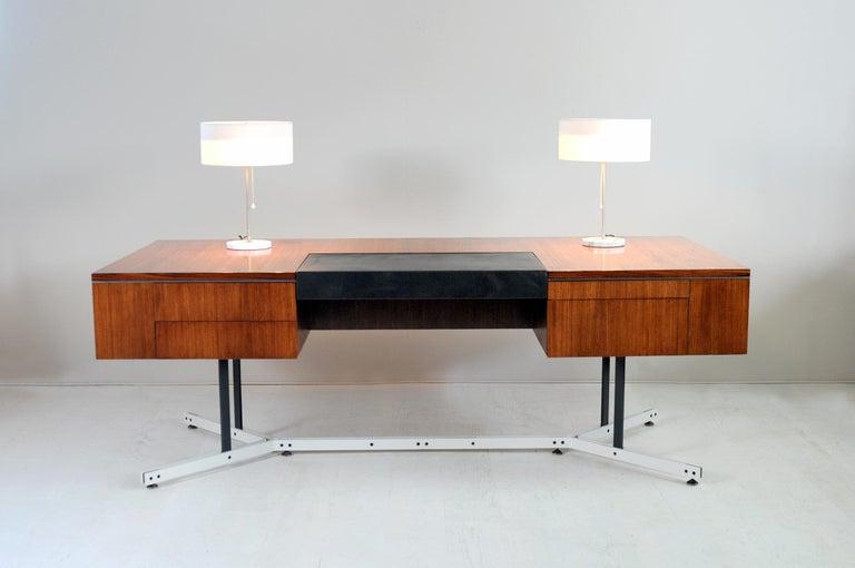 English Large Rosewood Executive Desk, England, 1970 For Sale