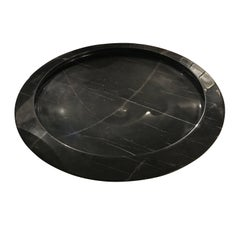 Large Round Black Marble Bowl, Italy, Contemporary
