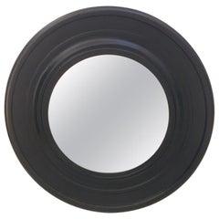 Large Round Black Painted Mirror