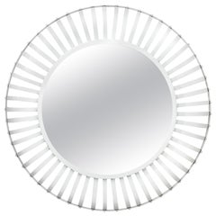 Large Round Industrial Iron Powder Coated Mirror