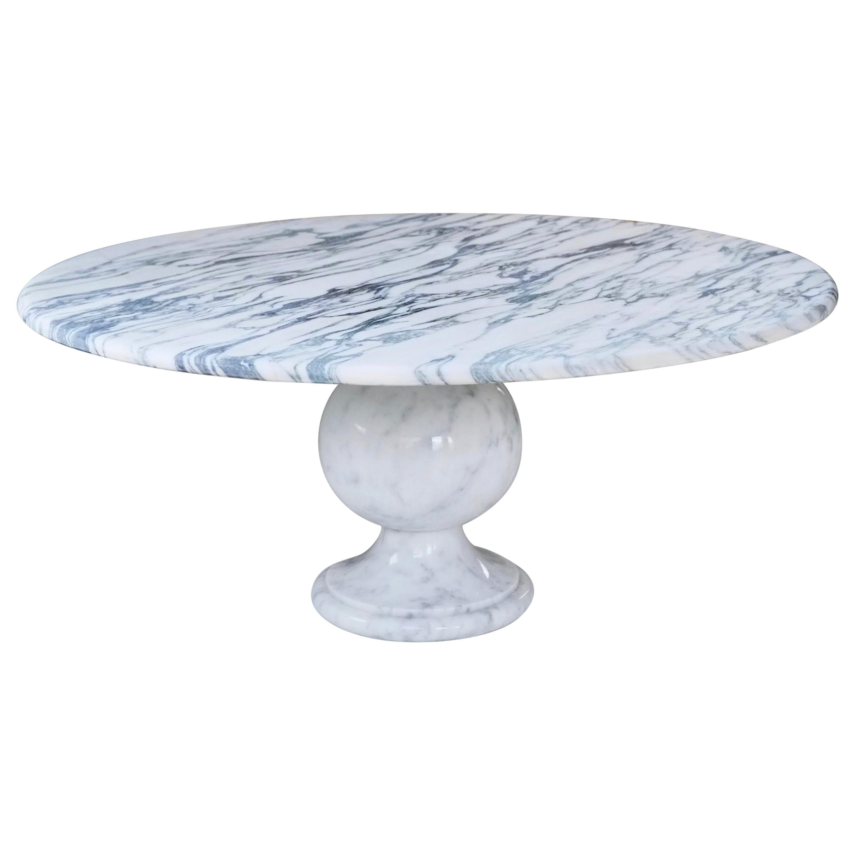 Classic Italian Carrara Marble Vintage Coffee Table