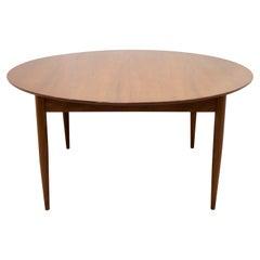 Large Round Midcentury Teak Danish Dining Table, 1960s