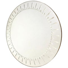 Large Round Mirror by Cristal Art