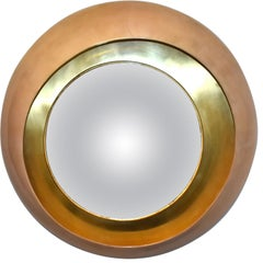 Large Round Parchment Convex Mirror