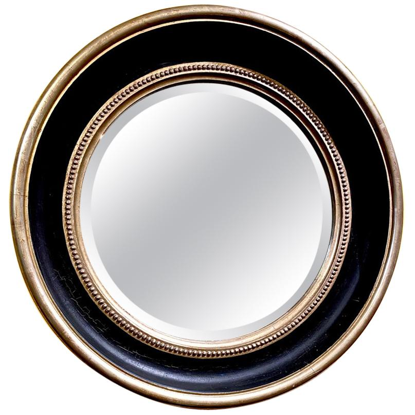 Large Round Regency Neoclassical Style Mirror