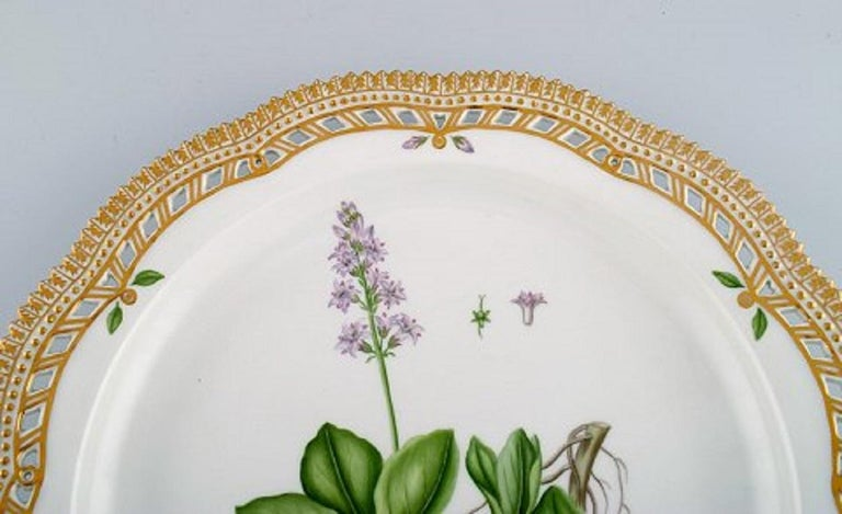 Danish Large Round Royal Copenhagen Flora Danica Serving Dish in Hand-Painted Porcelain