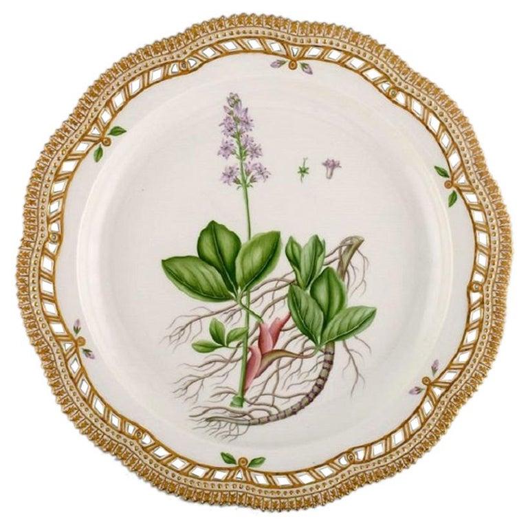 Large Round Royal Copenhagen Flora Danica Serving Dish in Hand-Painted Porcelain