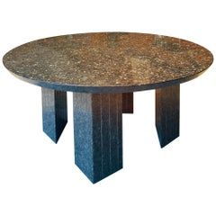 Large Round Table in Granite 10 Seats