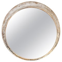 Large Round Train Station Mirror