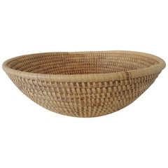 Large Round Woven Seagrass Decorative Basket