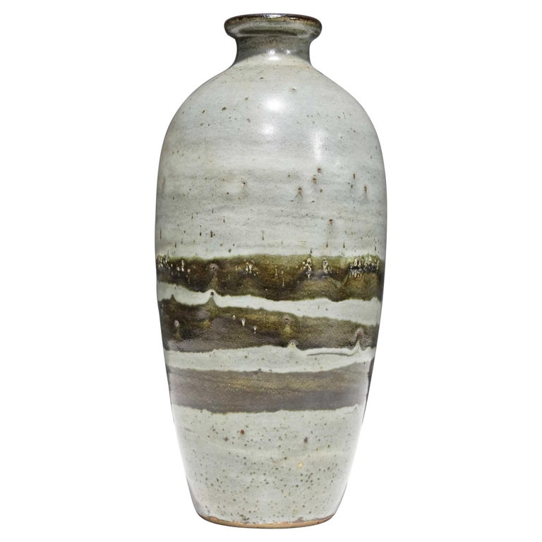 Large Rounded Ceramic Vase by Albert Green For Sale
