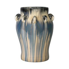 Large Royal Copenhagen Multi-Glazed Porcelain Vase, Dated 1893