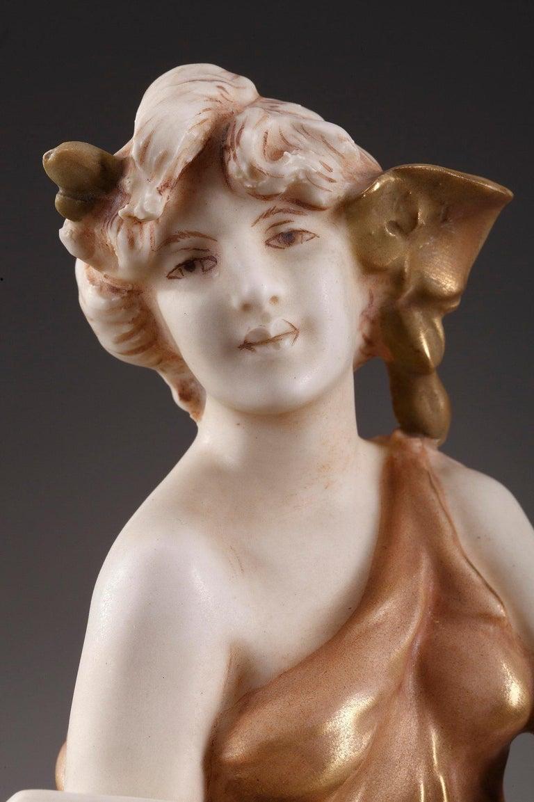 Large Royal Dux Cup, Art Nouveau Period For Sale 5