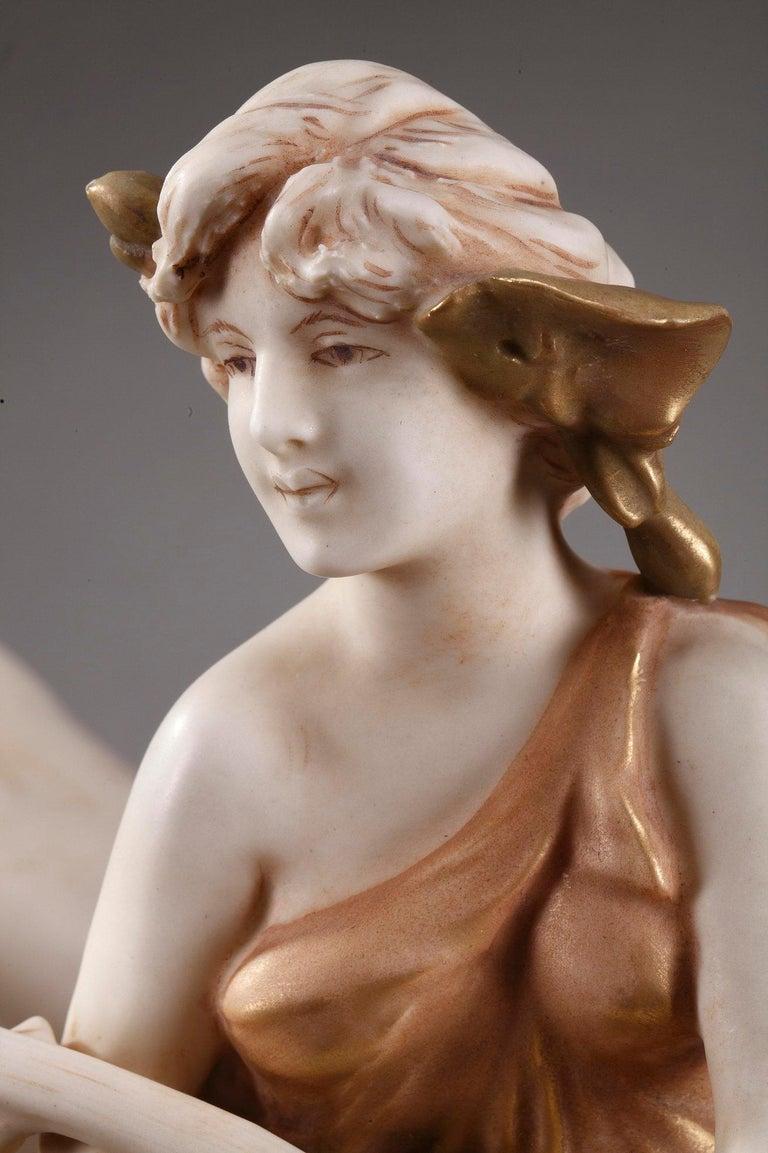 Large Royal Dux Cup, Art Nouveau Period For Sale 6