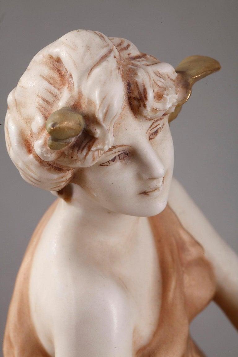 Large Royal Dux Cup, Art Nouveau Period In Good Condition For Sale In Paris, FR