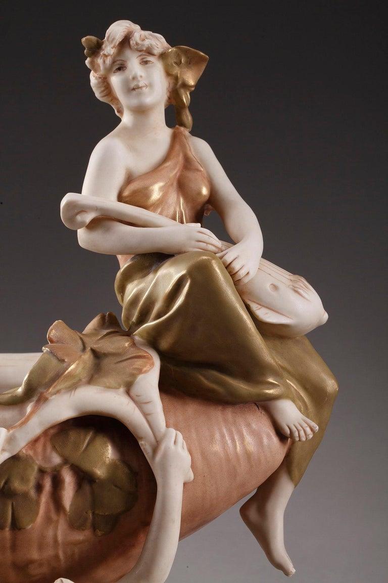 Large Royal Dux Cup, Art Nouveau Period For Sale 2