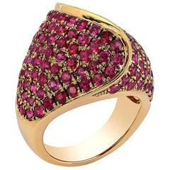 Goshwara Large Ruby Pave Ring