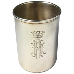 Large Russian Silver Vodka Cup by Morozov, circa 1900