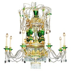 Large Russian Style Chandelier in the 18th Century Empire Neoclassical Manner