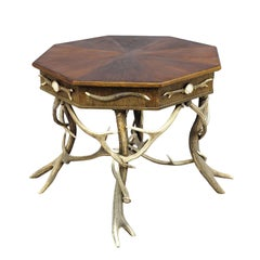 Large Rustic Antler Table, circa 1900