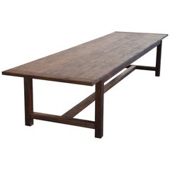 Large Rustic Farm Table Made from Reclaimed Pine