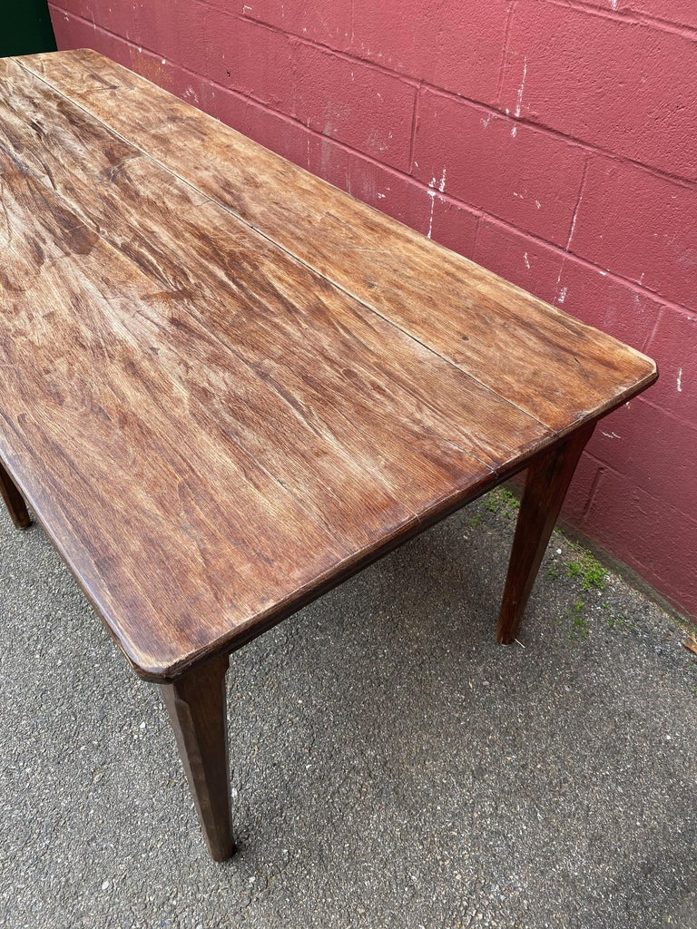 Large Rustic French Farm Table For Sale 5