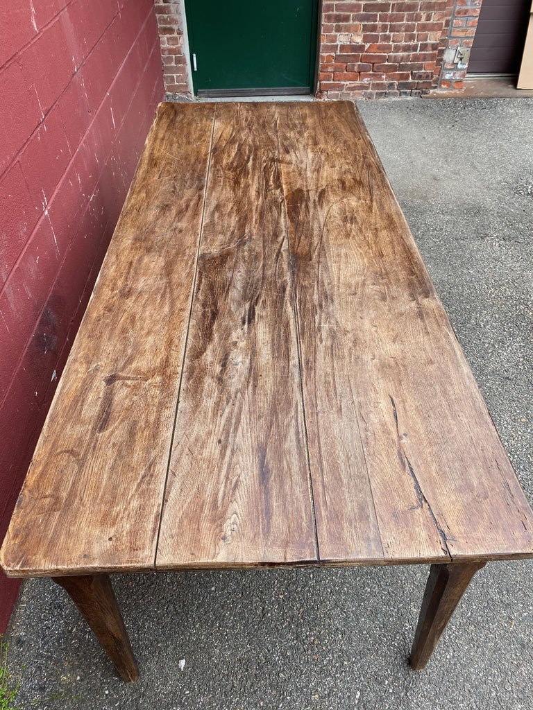 Large Rustic French Farm Table For Sale 7