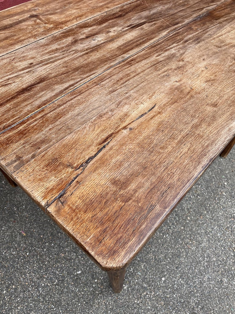 Large Rustic French Farm Table For Sale 8