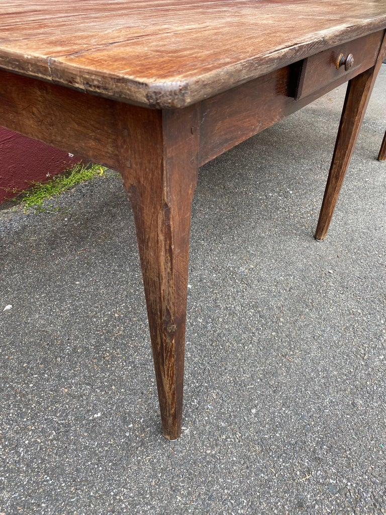 Large Rustic French Farm Table For Sale 9