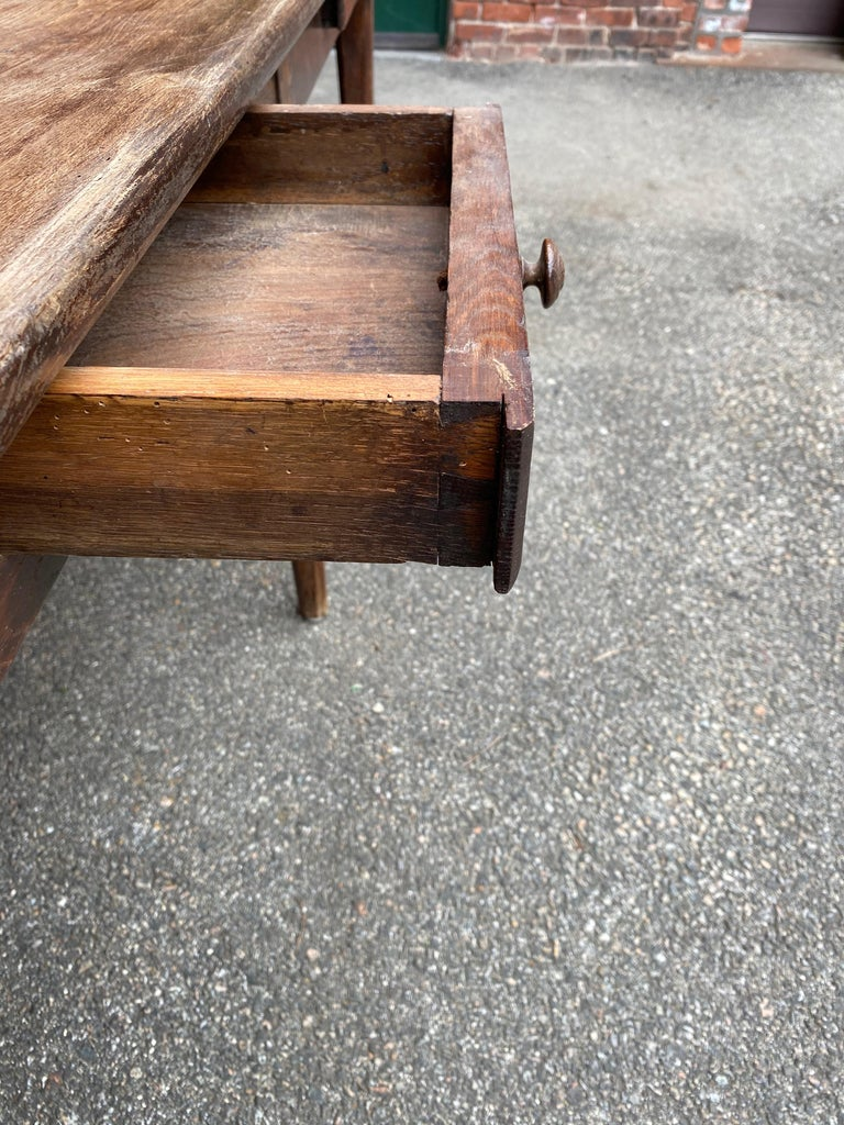 Large Rustic French Farm Table For Sale 10