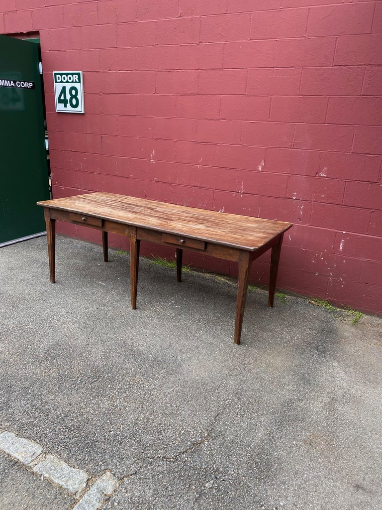 Large Rustic French Farm Table For Sale 11