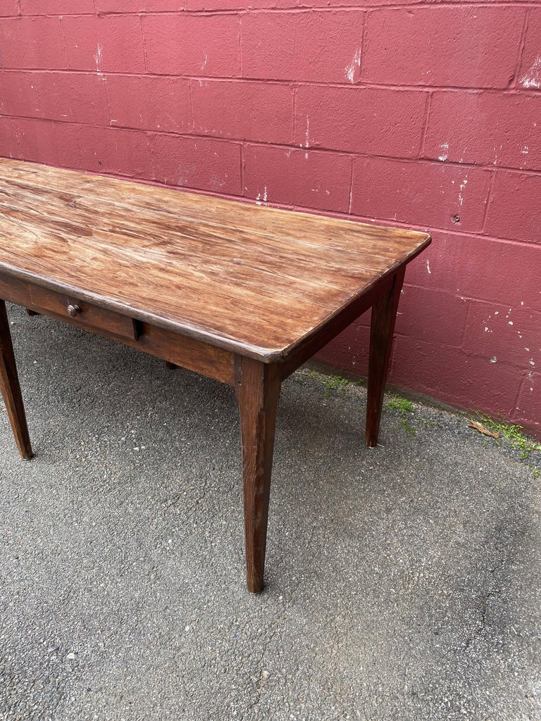 Large Rustic French Farm Table For Sale 12