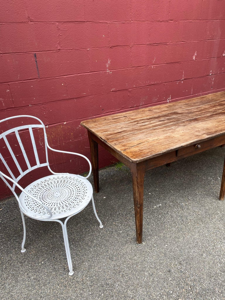 Large Rustic French Farm Table For Sale 1