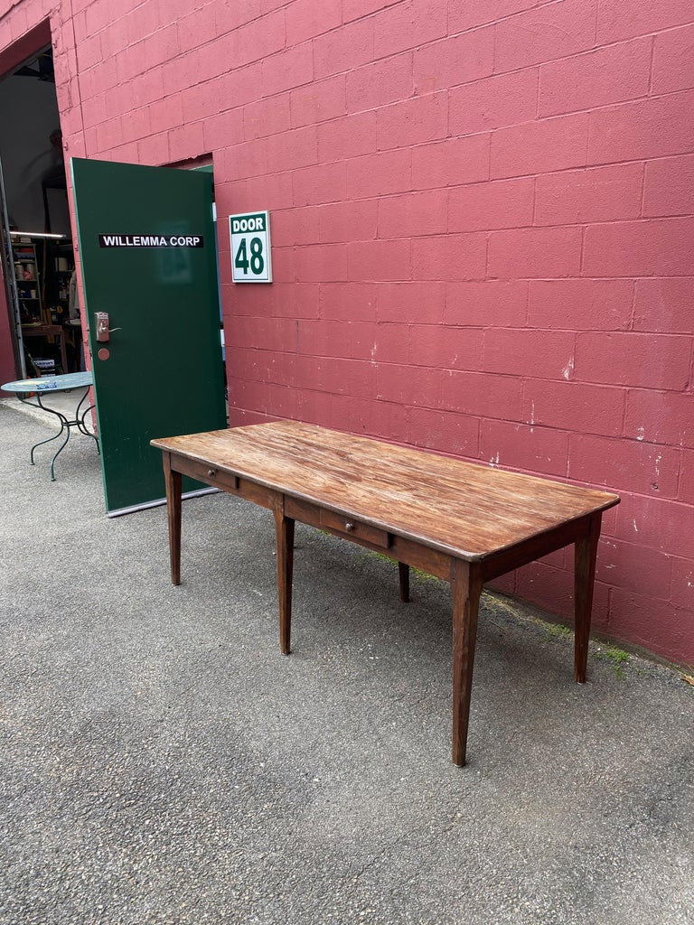 Large Rustic French Farm Table For Sale 2