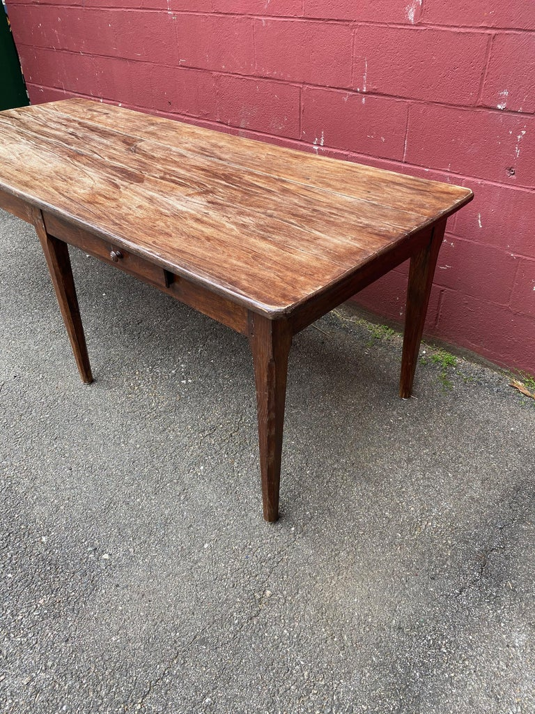 Large Rustic French Farm Table For Sale 3