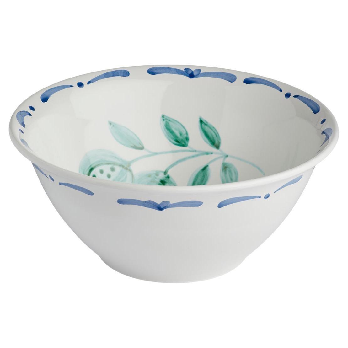 Large Salad Bowl Hand-Painted Ceramic Sofina Boutique Kitzbühel Austria