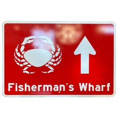 Large San Francisco Fisherman's Wharf Street Sign, 1992