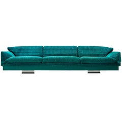 Large Saporiti Sofa in Fabric Upholstery