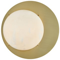 Large 'Saturn' Sconce in Brass and Alabaster