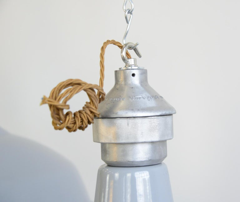 Large Saw Mill Lights by Benjamin, circa 1950s For Sale 3