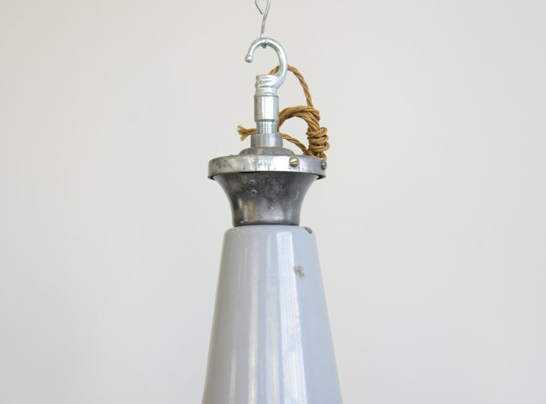 Large Saw Mill Lights by Benjamin, circa 1950s For Sale 4