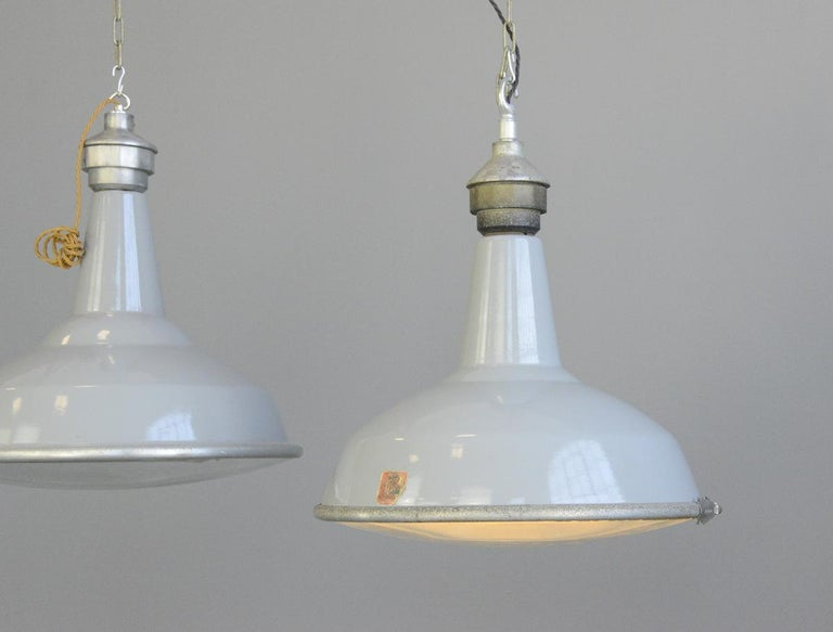Large Saw Mill Lights by Benjamin, circa 1950s For Sale 2